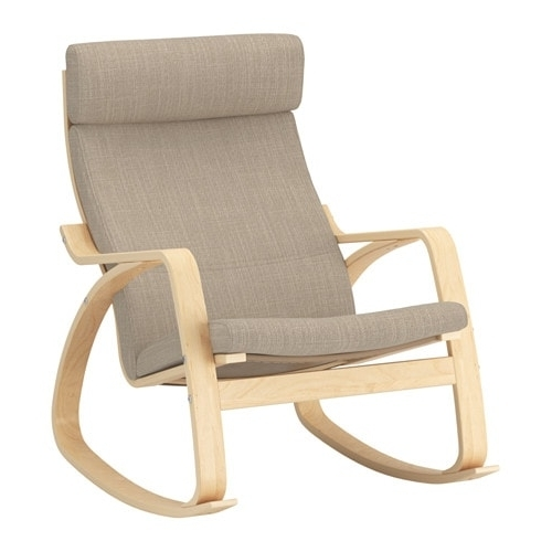 Poäng Rocking Chair – Hillared Beige – Ikea Inside Current Ikea Rocking Chairs (View 13 of 20)