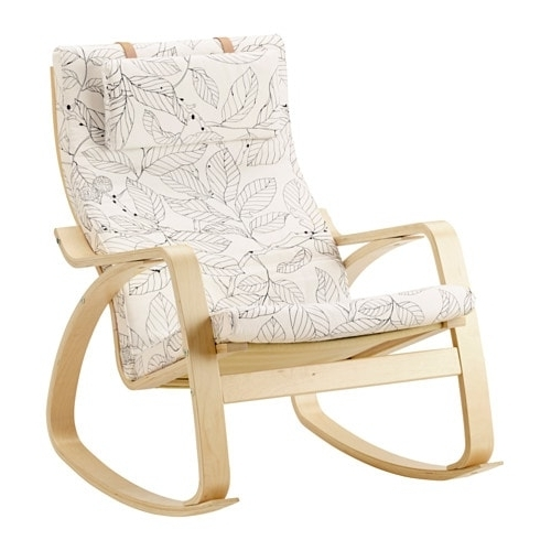 Poäng Rocking Chair – Vislanda Black/white – Ikea With Regard To Most Recent Ikea Rocking Chairs (View 12 of 20)