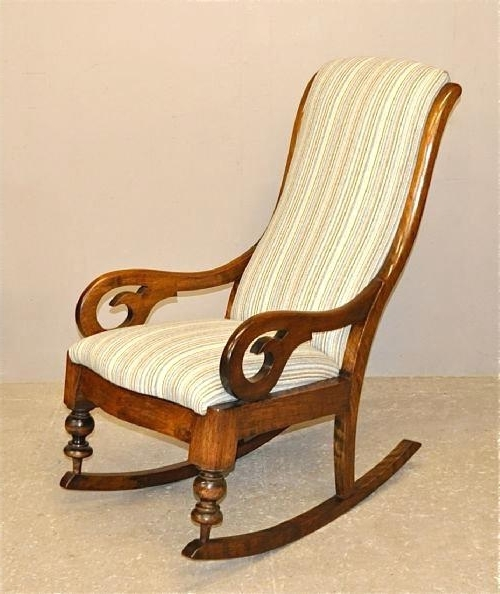 Popular Comfortable Rocking Chair Upholstered Rocking Chair On Sale Within Upholstered Rocking Chairs (View 14 of 20)