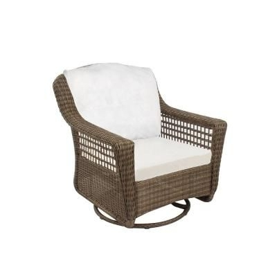 Popular Hampton Bay Spring Haven Grey All Weather Wicker Patio Swivel Rocker For Hampton Bay Rocking Patio Chairs (View 14 of 20)