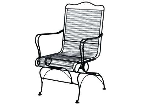Popular Iron Rocking Patio Chairs Pertaining To Wrought Iron Rocker Patio Chairs Furniture Outdoor Rocking – Brandgap (View 12 of 20)