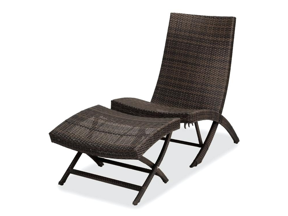 Popular Outdoor Chair And Ottoman Chaise Lounges Outdoor Patio Furniture Intended For Patio Rocking Chairs With Ottoman (View 7 of 20)