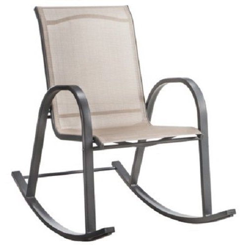 Popular Patio Sling Rocking Chairs Regarding Room Essentialstm Nicollet Sling Patio Rocking Chair – Tan, Lawn (View 1 of 20)
