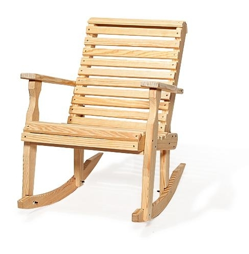 Popular Patio Wooden Rocking Chairs For Amish Pine Wood Patio Rocking Chair From Dutchcrafters Furniture (View 12 of 20)