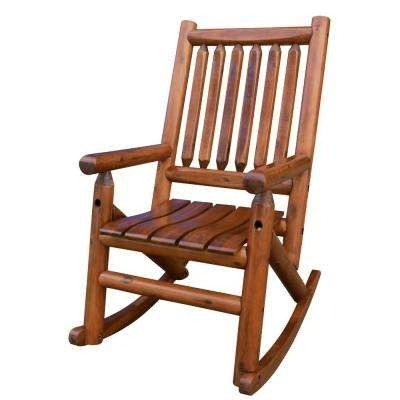 Popular Patio Wooden Rocking Chairs With Wood – Light Brown Wood – Rocking Chairs – Patio Chairs – The Home Depot (View 13 of 20)
