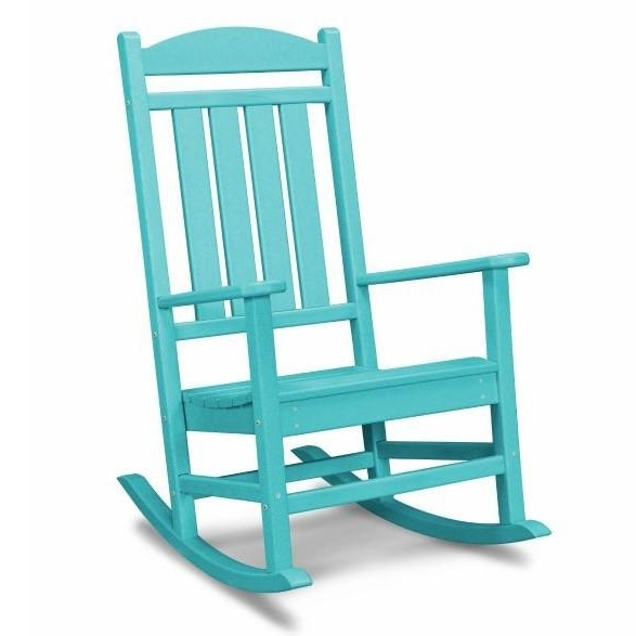 Popular Plastic Patio Rocking Chairs Intended For Polywood Presidential Recycled Plastic Wood Patio Rocking Chair (View 14 of 20)