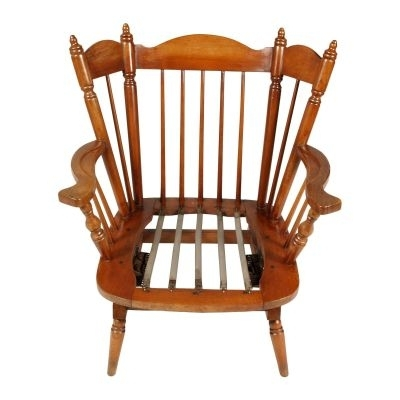 Popular Rocking Chairs With Springs With Regard To Chiavari Chestnut Rocking Chairs With Springs, 1930S, Set Of 2 For (View 13 of 20)