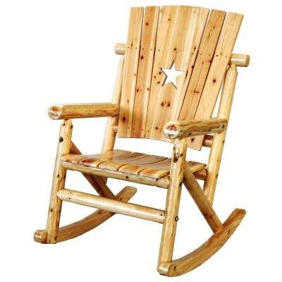 Popular Unfinished Wood – Rocking Chairs – Patio Chairs – The Home Depot With Patio Wooden Rocking Chairs (View 14 of 20)