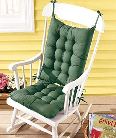 Preferred Amazon Rocking Chairs With Regard To Amazon: Rocking Chair Cushion Set – Green: Kitchen & Dining (View 7 of 20)