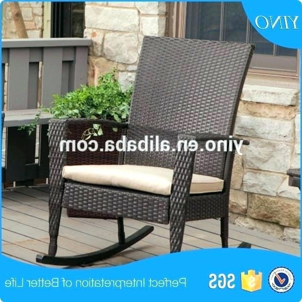 Preferred High Back Wicker Rocking Chair Magnificent Used Outdoor Decorating Pertaining To Used Patio Rocking Chairs (View 8 of 20)