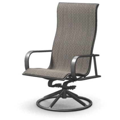 Preferred Homecrest Kashton Sling Swivel Rocker Patio Dining Chair – Dusk In Patio Sling Rocking Chairs (View 9 of 20)