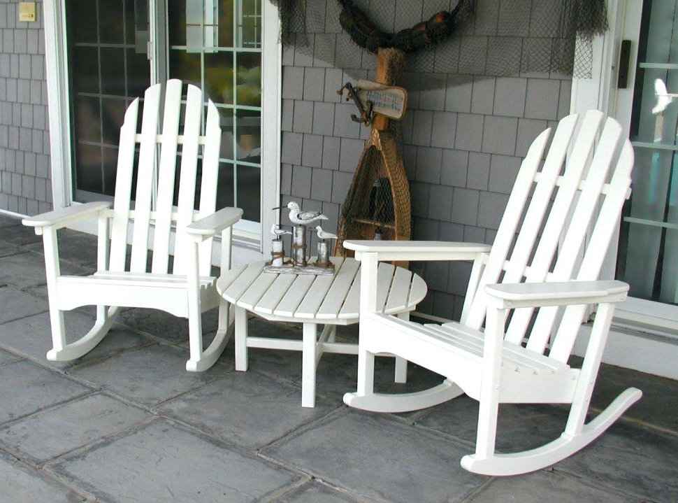 Preferred Outdoor Rocking Chairs Landscape Outdoor Rocking Chair The Longest Within Outdoor Rocking Chairs With Table (View 17 of 20)