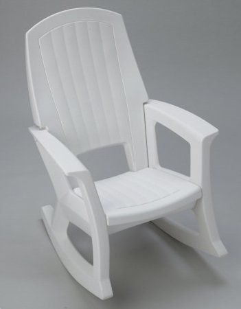 Preferred Plastic Patio Rocking Chairs With Amazon : White Outdoor Rocking Chair – 600 Lb (View 4 of 20)