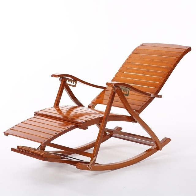 Preferred Rocking Chairs With Footrest For Comfortable Relax Bamboo Rocking Chair With Foot Rest Design Living (View 10 of 20)