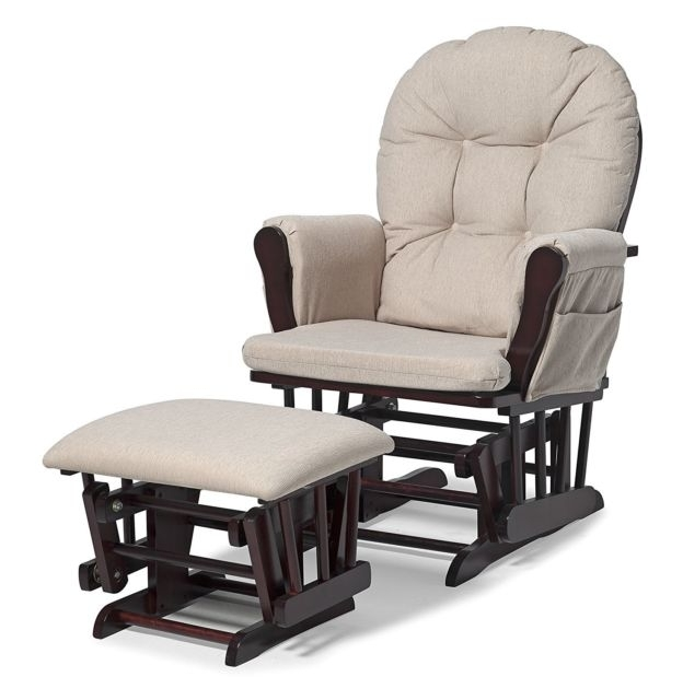 Preferred Rocking Chairs With Ottoman Within Nursery Rocking Chair Ottoman Set Baby Furniture Nursing Glider (View 11 of 20)