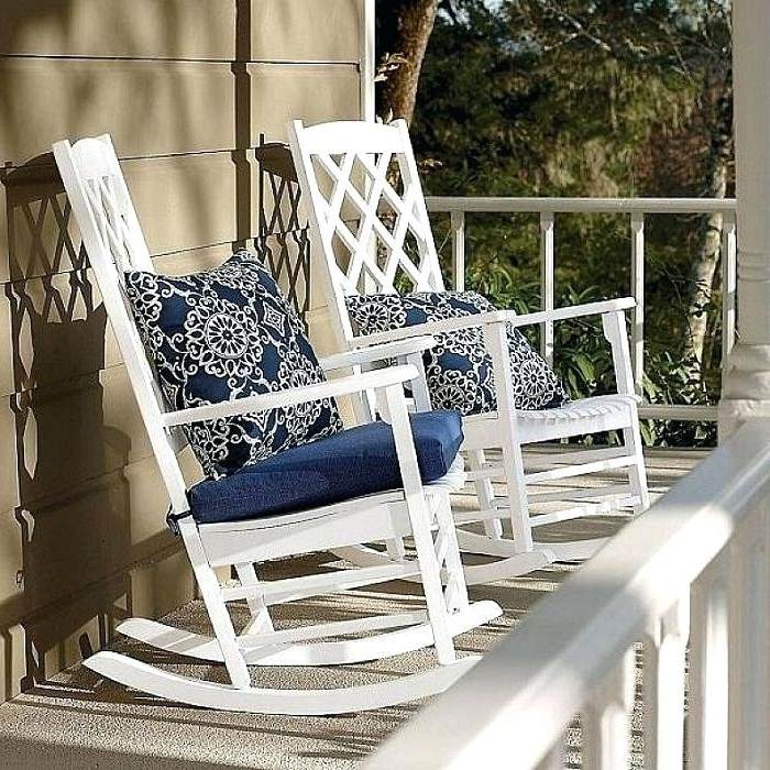 Preferred Vinyl Rocking Chairs White Outdoor Porch Rocking Chairs With With Outdoor Vinyl Rocking Chairs (View 15 of 20)
