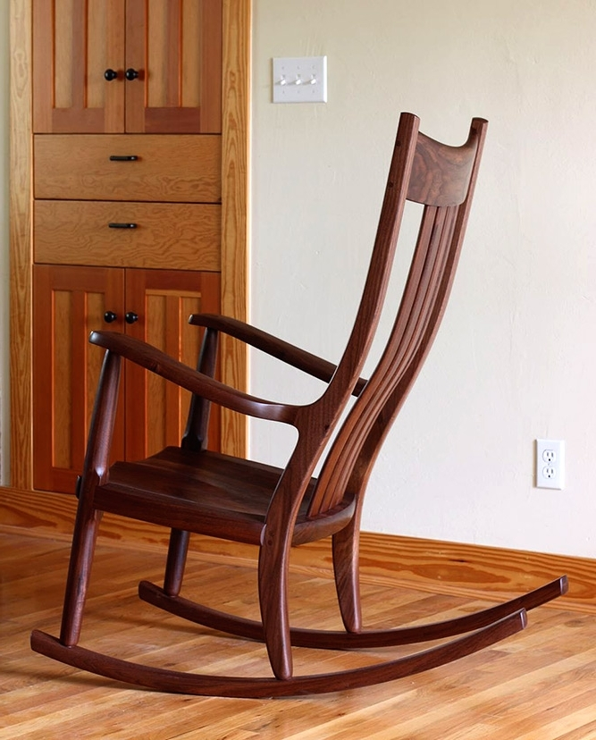 Preferred Walnut Rocking Chairs: Comfortable, Handmade Heirlooms Throughout Rocking Chairs (View 19 of 20)
