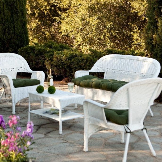 Preferred White Wicker Rocking Chair White Wicker Settee White Outdoor Pertaining To Used Patio Rocking Chairs (View 10 of 20)