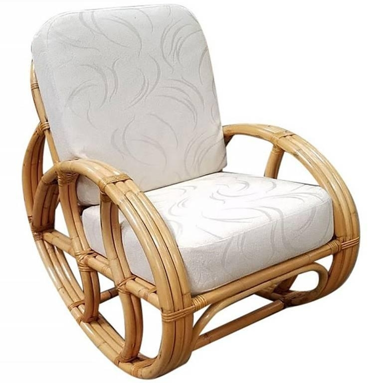 Preferred Wicker Rocking Chair With Magazine Holder In Franco Albini Style Wicker Rocking Chair And Magazine Rack For Sale (View 13 of 20)