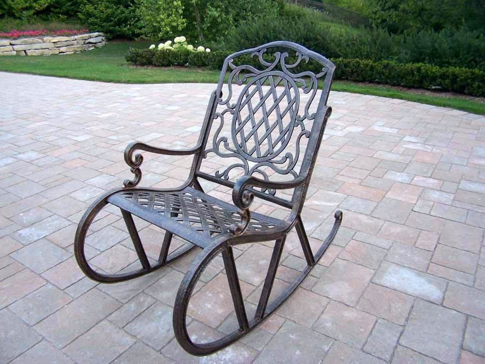 Recent Outdoor Furniture Rocking Chair Vintage Metal Rocking Chair Nice Within Outdoor Patio Metal Rocking Chairs (View 3 of 20)
