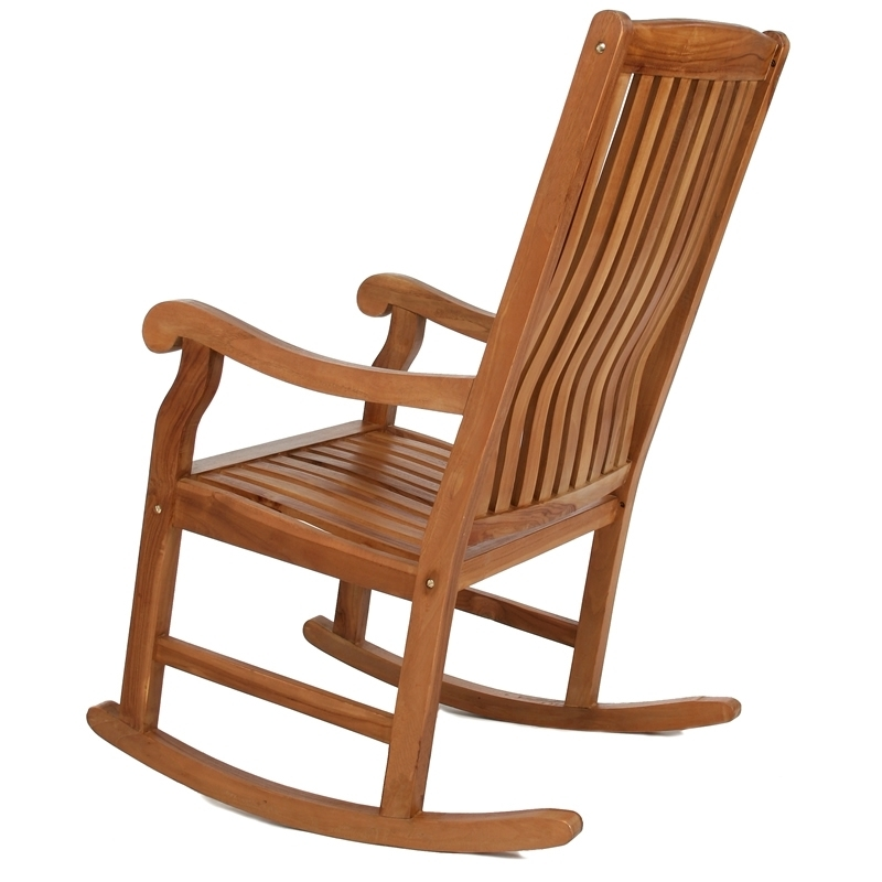 Recent Outdoor Wooden Rocking Chair Solid Teak (Assembled) Within Rocking Chair Outdoor Wooden (Gallery 3 of 20)