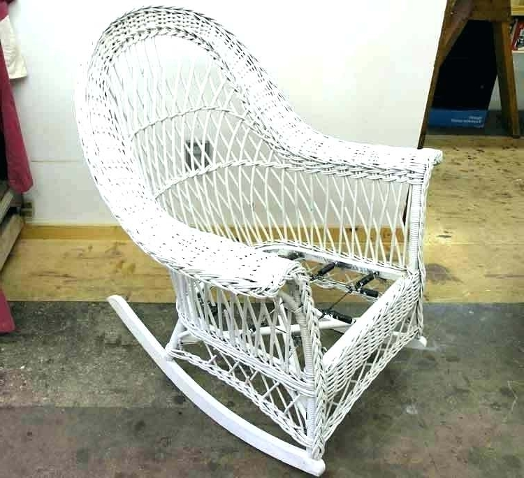 Recent Vintage Wicker Rocking Chairs Intended For Wicker Rocking Chair Nursery White Wicker Rocking Chair Sale Cane (Gallery 5 of 20)