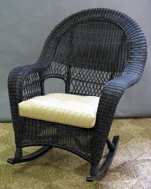 Recent Wicker Rocking Chairs For Outdoors Throughout Wicker Rocker Chair Decor Inspiration High Back Rocking 521× (View 14 of 20)