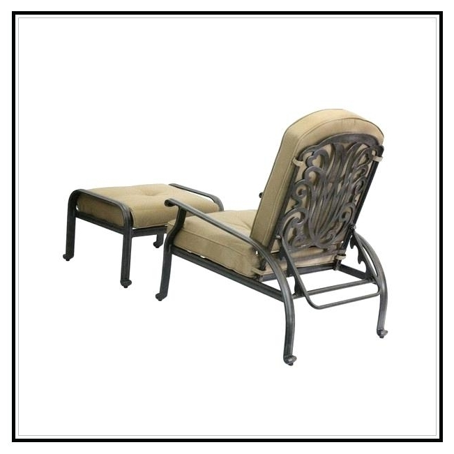 Reclining Rocking Chair With Ottoman Fancy Reclining Patio Chairs In Most Popular Patio Rocking Chairs With Ottoman (View 16 of 20)