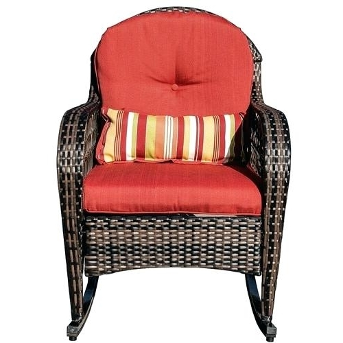 Red Patio Rocking Chairs With Best And Newest Resin Wicker Rocking Chair Wicker Rocking Chair Rattan Outdoor Patio (Gallery 18 of 20)