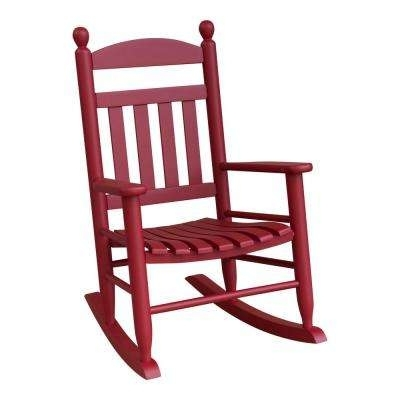 Red Patio Rocking Chairs With Regard To Famous Red – Rocking Chairs – Patio Chairs – The Home Depot (View 2 of 20)