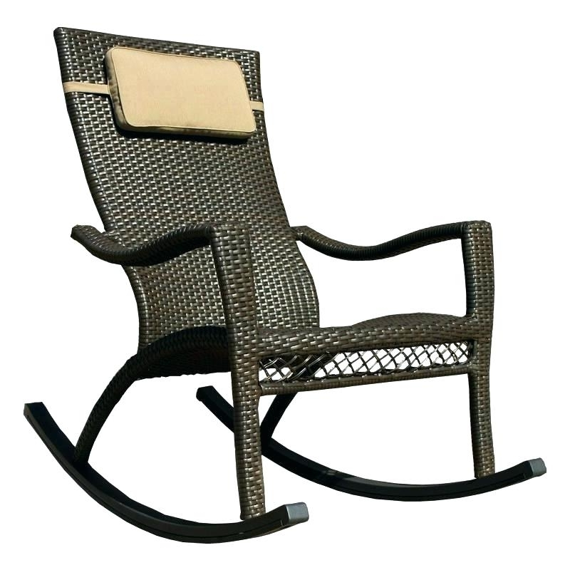 Resin Patio Rocking Chairs Intended For Well Known Resin Wicker Rocking Chair Resin Rocking Chair Outdoor Wicker Rocker (View 4 of 20)