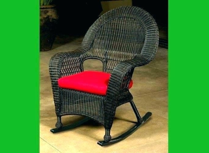 Resin Wicker Patio Rocking Chairs For 2018 Resin Wicker Rocking Chair Outdoor Interiors Rocking Chair Resin (View 20 of 20)