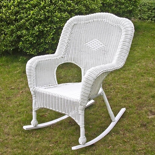 Resin Wicker Patio Rocking Chairs Regarding 2017 Outdoor Resin Rocking Chairs (View 15 of 20)