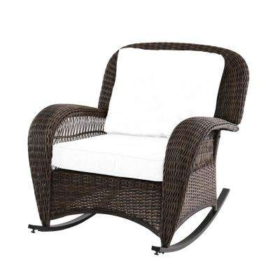 Resin Wicker Patio Rocking Chairs With Fashionable Steel – Rocking Chairs – Patio Chairs – The Home Depot (View 8 of 20)