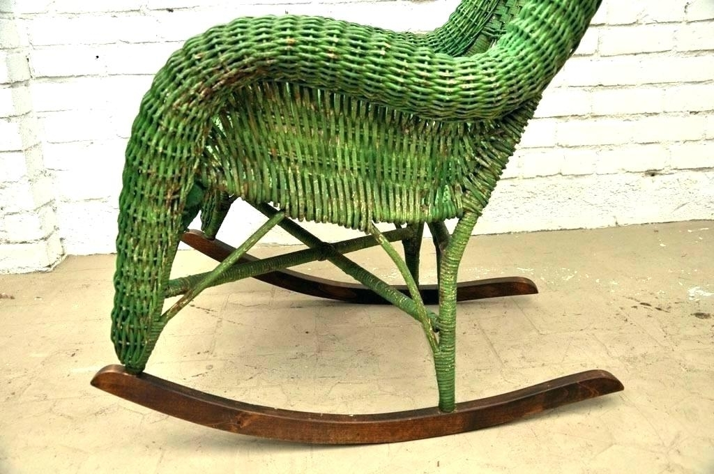 Resin Wicker Rocking Chair Resin Wicker Rocking Chairs – Dobaebacsa Intended For 2017 Vintage Wicker Rocking Chairs (View 12 of 20)