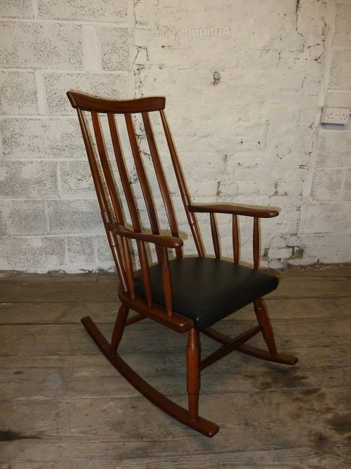 Retro Rocking Chairs For Most Up To Date Antiques Atlas – Danish Teak Vintage Retro Rocking Chair (View 12 of 20)