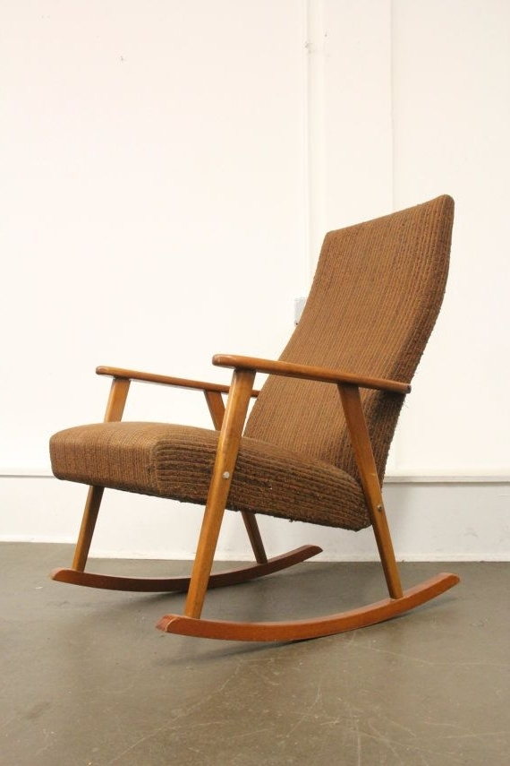 Retro Rocking Chairs Intended For Fashionable Soldmid Century Modern Johanson Vintage Rocking Chair 875 Free (View 13 of 20)
