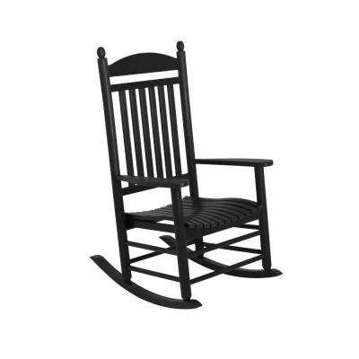 Rocking – Black – Rocking Chairs – Patio Chairs – The Home Depot In Latest Black Patio Rocking Chairs (View 16 of 20)