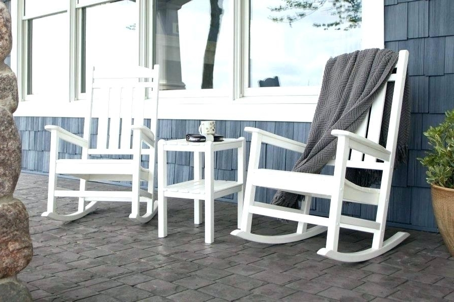 Rocking Chair Front Porch Design Ideas Front Patio Chairs Depot Intended For Popular Small Patio Rocking Chairs (View 10 of 20)