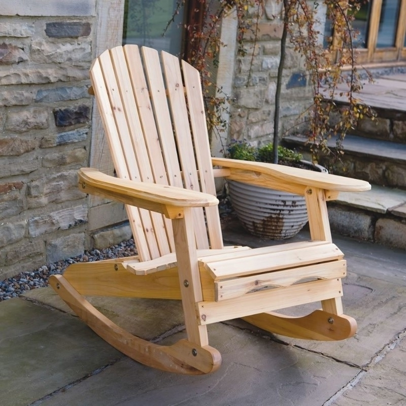 Rocking Chair Outdoor Wooden For Favorite Solid Outdoor Wooden Rocking Chairs : Pleasure Outdoor Wooden (View 4 of 20)