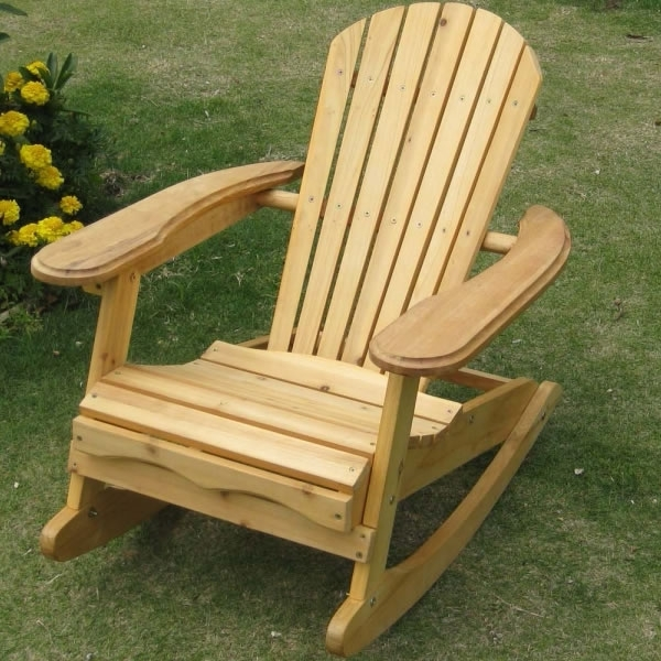 Rocking Chair Outdoor Wooden Inside 2018 Wooden Outdoor Rocking Chairs For Amazing Garden Patio Outdoor (Gallery 1 of 20)