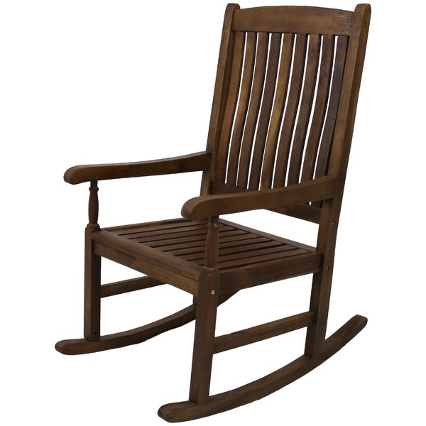 Rocking Chair Outdoor Wooden Inside Most Up To Date Patio Rocking Chairs & Gliders You'll Love (Gallery 10 of 20)