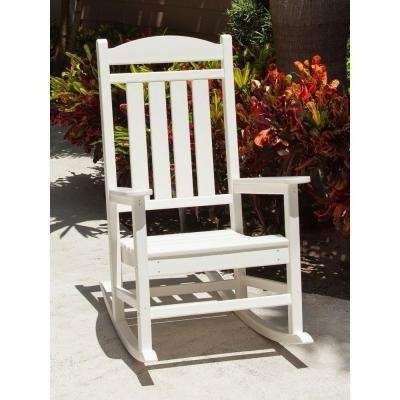 Rocking Chairs At Home Depot Pertaining To Famous White – Rocking Chairs – Patio Chairs – The Home Depot (View 14 of 20)