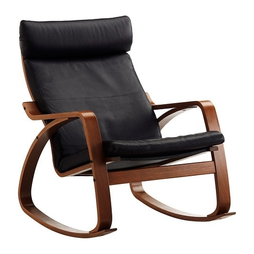 Rocking Chairs At Ikea Throughout Fashionable Poäng Rocking Chair – Glose Black – Ikea (View 7 of 20)