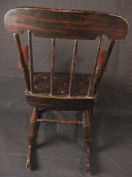 Rocking Chairs At Roses With Popular Antique Child's Rocking Chair Roses & Stenciled 19Th C (View 14 of 20)