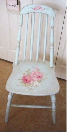 Rocking Chairs At Roses With Regard To Most Current Shabby Chic ♥ Antique Cottage Rose Chair (View 15 of 20)