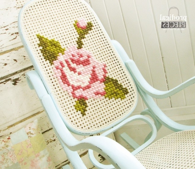 Rocking Chairs At Roses With Well Liked Shabby Chic Rocking Chair With A Twist – Prodigal Pieces (View 16 of 20)