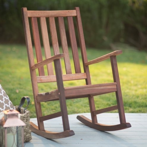 Rocking Chairs For Outdoors For Widely Used Wooden Outdoor Rocking Chairs For Gorgeous Electric Rocking Chair (View 11 of 20)