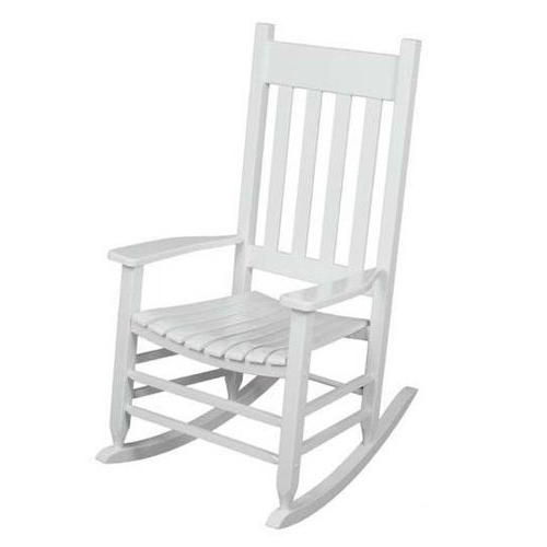 Rocking Chairs For Outdoors Intended For Most Recent Amazon : Outdoor Rocking Chair White The Solid Hardwood Chairs (View 13 of 20)