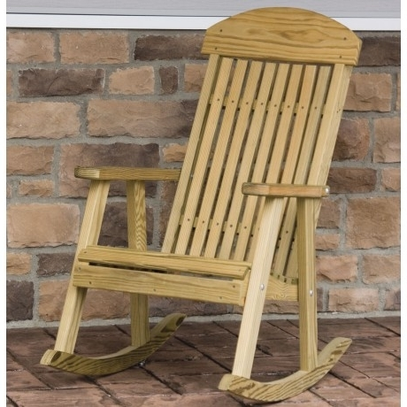 Rocking Chairs For Porch Pertaining To Most Recent Amish Porch Rockers (View 14 of 20)